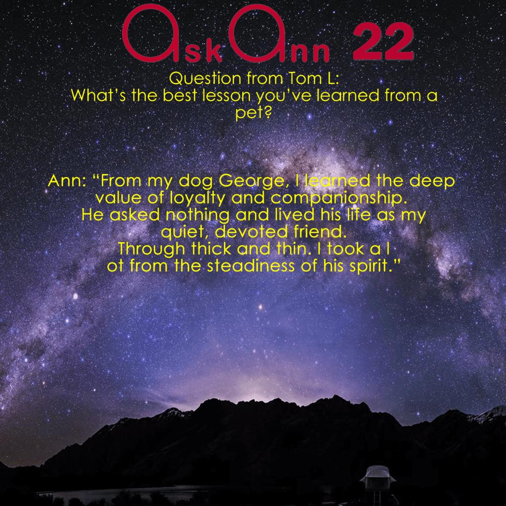 Ask Ann 22